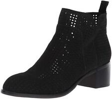 Franco Sarto Richland 3 Womens Bootie Perforated Leather Black Size 9 Ankle Boot