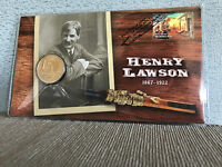 New Mint Uncirculated Henry Lawson 1867-1922 $1 Coin PNC Limited to 7500