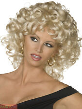 Ladies Official Sandy Wig Blonde Grease Last Scene 1950s Fancy Dress Accessory