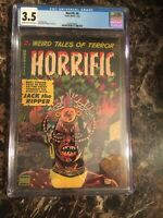 Horrific #6 CGC 3.5 CR/OW Scarce Don Heck Pre-Code Horror Witch Doctor Cover PCH