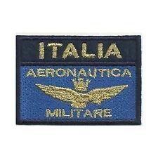 [Patch] BANDIERA AERONAUTICA ITALIA MILITARE var. blu oro cm 7 x 5 ricamo -170