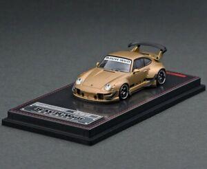 1:64 Ignition Porsche Carrera 911 RWB 993 WORK MEISTER Type 18 Matte Gold IG2157