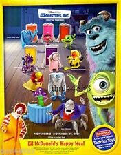 2001 McDonalds Monsters, Inc. MIP Set - Lot of 10, Boys & Girls, 3+