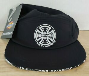 Dickies Independent Truck Co Black Skater Surf 5 Panel Men's Adjustable Hat Cap