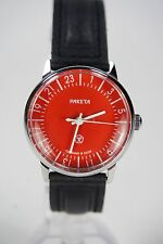 Russian mechanical watch RAKETA QUALITY MARK 24H Red dial. 34 mm