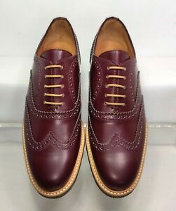 Woman By Common Projects Burgundy Wingtip Brogue Oxford EU39/US7 Made In Italy