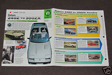 DATSUN 240Z to 300ZX CAR HISTORY 1969-1996 BOOKLET 260 280 Fairlady L28 ENGINE+