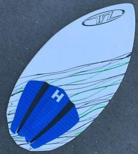 "NEW Wave Zone Diamond 40"" Fiberglass Skimboard - BLEM - Green Blue - 6"