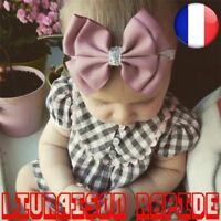 Bandeau Bébé Cheveux Enfant Ruban Argent Pailette Noeud Nouveau-né Accéssoires
