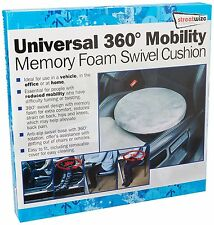 NEW Universal Mobility Aid Car Seat & Home Chair 360° Memory Foam Swivel Cushion