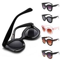 Women Cat Eye Oversized Sunglasses Designer Sports Retro Vintage Eyewear Shades