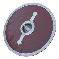 Medieval Handcrafted Wooden Viking Legacy Battle Shield