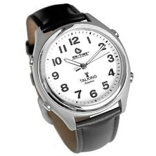 ON-TIME TALKING WRIST WATCH ATOMIC CONTROLLED GOOD FOR NIGHT AND POOR VISION