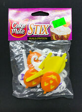 (6) Cake Mate Cupcake Stix Halloween 12 Count Bags of Ghosts & Pumpkins 72 Total