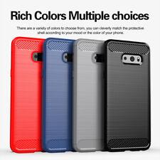 For LG G8X K40 K20 Q60 Stylo 5 Shockproof Slim Fiber Carbon Soft TPU Case Cover