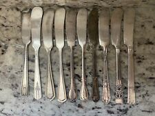 Antique Butter Knives Quantity 10 Lot Mixed Silver Plated Silverware Flatware 2