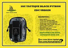 Sac BLACK PYTHON EDC urbain tactique avec fixation Molle imperméable