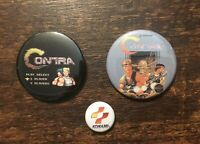 CONTRA, Konami Collectible Pinback (three button set), Badge, NEW! Nintendo, NES