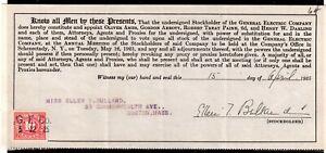 **USA = 5c Documentary Revenue on G. E. C. Stockholder document. 1925. (O0700n)