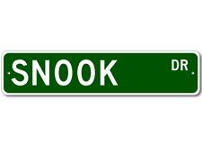 SNOOK - Fishing - High Quality Aluminum Fish Street Sign