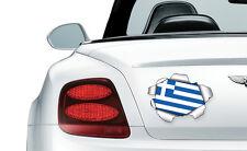 COOL RIPPED/TORN METAL EFFECT GREEK FLAG - vinyl wall, car, decal sticker