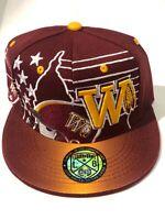 Washington New Leader MVP 81 Monk Redskins Burgundy Gold Era Snapback Hat Cap