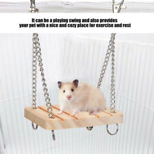 Animals Products Hamster Chinchilla Toys Wooden Swing Harness Hanging Bed Parrot