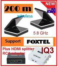 New 5.8 GHz Wireless AV Sender Receiver IR remote +HDMI Splitter for Foxtel iq3