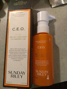 SUNDAY RILEY CEO C.E.O. CLEANSING OIL FULL SIZE 3.4  OZ  NEW Sealed