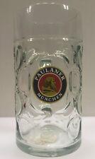 Paulaner Munchen Beer Stein Dimpled Rastal Mug 1 Liter 1L German Germany Rare