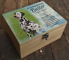 Wooden box casket urn, ashes box, memory box, Dalmation dog or any breed