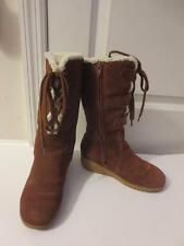 WOMENS SIZE 6/GIRLS SIZE 4 MICHAEL KORS BOOTS BROWN WEDGE HEEL BOOTS -