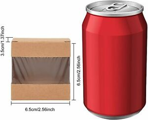"""30 Pack 2.5x2.5x1.3"""" Square Brown Kraft Boxes with Window Foldable ($1.2 each)"""