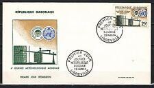 Gabon, Scott cat. 170. W.M.O. Organization, Weather issue on a First day cover