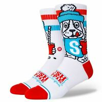 STANCE FUTURIST 3 PACK SOCKS.NEW MULTICOLOURED ARCH SUPPORT CALF SIZE UK 6-9