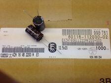 (100 pcs) EKZH160ELL222MK20S – UCC, 2200uF 16v 105c Electrolytic Capacitor