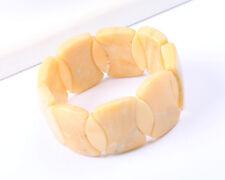 Butterscotch Amber Coloured Stone Stretch Bracelet, Vintage 1960s