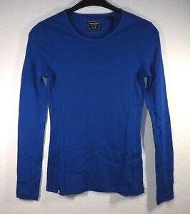 REDA Rewoolution Cocoon  Womens Mesh Longsleeve T Shirt 180   Merinowolle  royal
