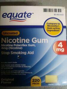 Equate 4mg Stop Smoking Aid Original Flavor Gum 220 Pieces