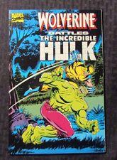 1989 WOLVERINE BATTLES THE INCREDIBLE HULK 1st Printing VF+ 8.5 Reprints 180-181