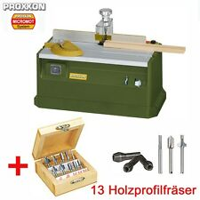 PROXXON MICRO Profiliergerät MP 400 Set Fräse Fräsgerät inkl. Holz Profilfräser