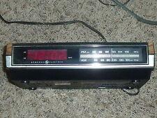 General Electric Ge Digital Alarm Clock Am-Fm Radio Red Led 7-4630B Retro Vtg