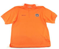 Auburn Tigers Mens Medium Columbia PFG Omni-Shade Vented Fishing Shirt Orange