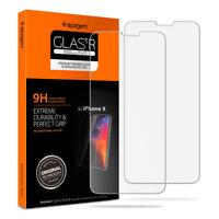 Spigen® iPhone X [Glas.tR SLIM]Sensor Protection 9H GLASS Screen Protector [2PK]