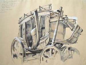"""REX BRANDT Signed 1969 Original Watercolor - """"El Cajon & Lakeside"""""""