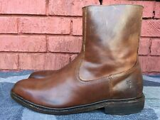 Frye Mens Brown Zip Up 87105 Leather Boots Sz 11.