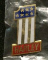 "VINTAGE HARLEY-DAVIDSON AMF USA #1 PIN AUTHENTIC HUGE 1 1/2"" TALL BRAND NEW"