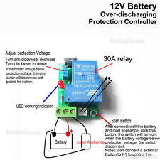 12V Battery Excessive Discharge Low Voltage Protection Controller Switch Module