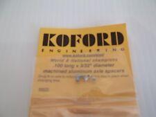"Koford .100 long x 3/32"" diameter machined aluminum axle spacers"