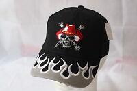 Biker Cap Baseball-Cap KAPPE Verstellbar Totenkopf Flammen